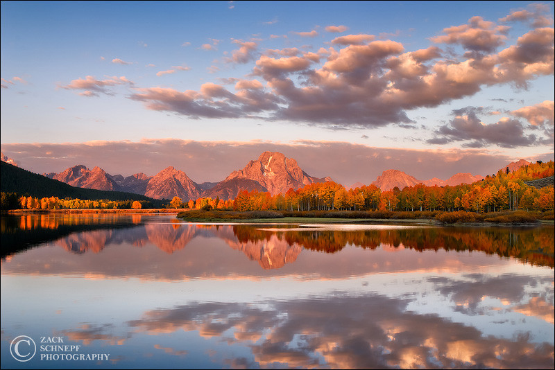 "<font color=""#FFFFFF"" size=""4"" face=""Verdana, Arial, Helvetica, sans-serif"">Oxbow Bend Sunrise</font><br> Grand Teton NP, Wyoming"