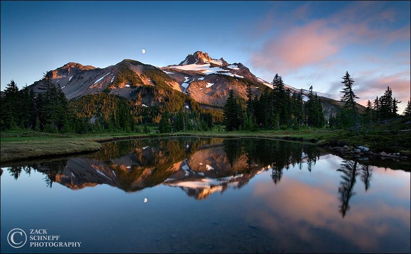 """<font color=""""#FFFFFF"""" size=""""4"""" face=""""Verdana, Arial, Helvetica, sans-serif"""">Jefferson Reflection</font><br> Mt. Jefferson, Oregon"""