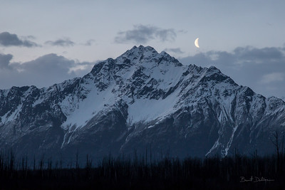 Moon Over Pioneer Peak