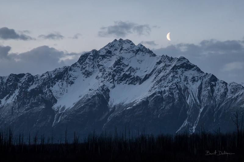 Moon Over Pioneer Peak