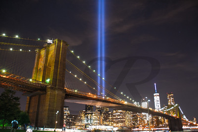 Tribute in Light from DUMBO