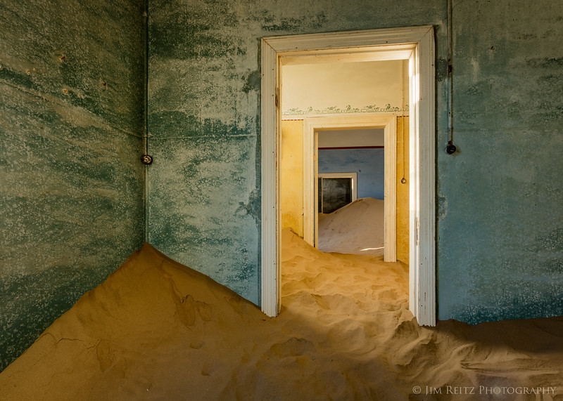 Kolmanskop ghost town - an abandoned diamond-mining town in southwestern Namibia.