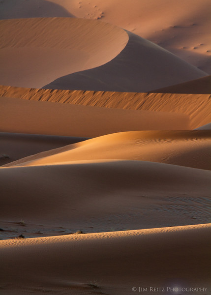 Sand dune abstract - Sossusvlei, Namibia.