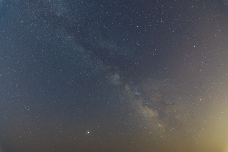 Made from 4 light frames (captured with a NIKON CORPORATION camera) by Starry Landscape Stacker 1.6.2.  Algorithm: Median