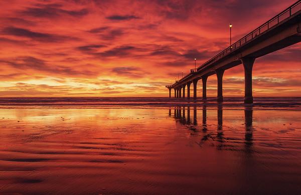 Sunrise, New Brighton Pier  - Christchurch NZ