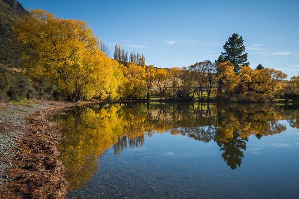 Autumn reflections at Lake Pearson, Arthur's Pass