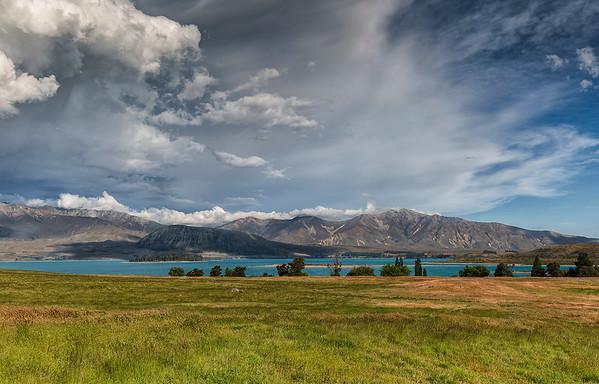 Glimpse of Lake Tekapo from Godley Peak Station