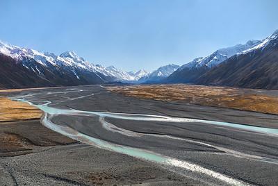 Tasman Valley braided river