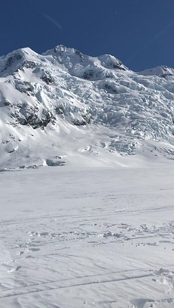 Taking off from the Glacier with a view of Mt Cook at the end of the video.