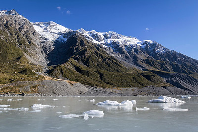 Hooker Glacier Lake - Mt Cook National Park