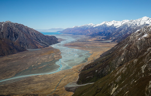 Looking down the Tasman Valley to Lake Pukaki