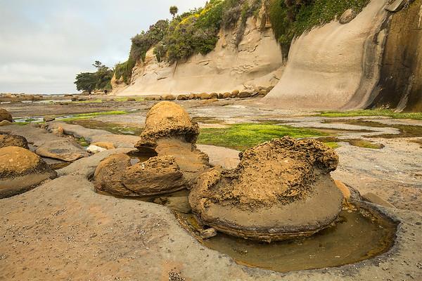 Eroded boulders  -  Otago coastline