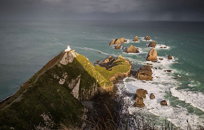 Evening light at the Nugget Point lighthouse