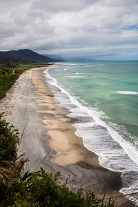 View from Gentle Annie lookout towards the Mokihinui River mouth