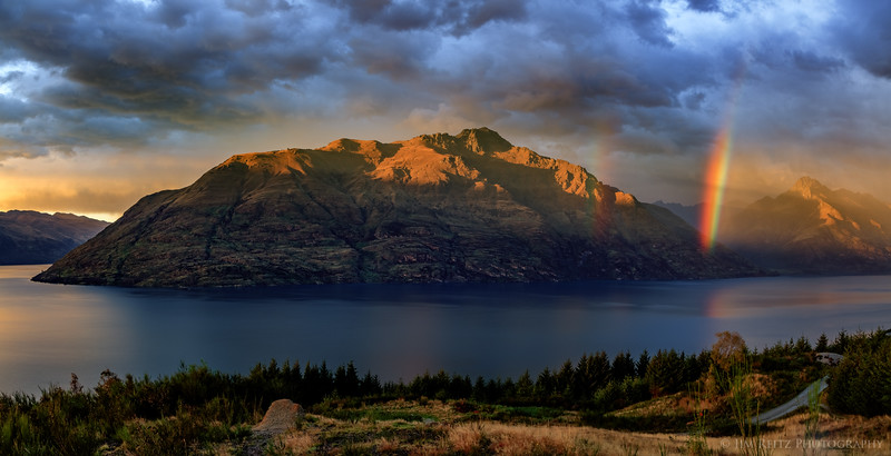 Rainbow over Lake Wakatipu - Queenstown, New Zealand