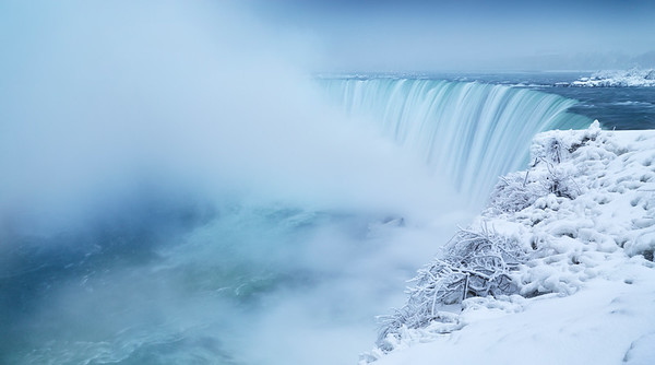 Niagara Falls in Winter Panorama