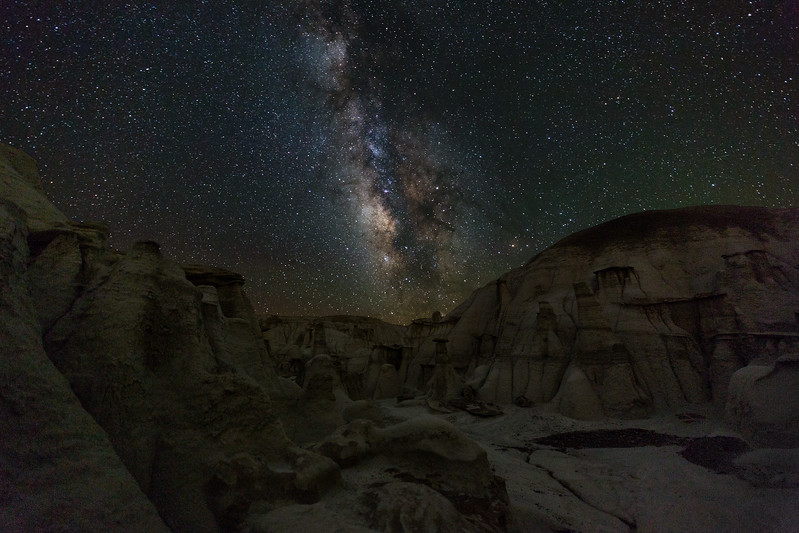 1:35AM: Milky Way over Gully and Hoodoos