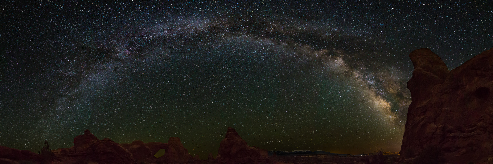 Milky Way over North Window and Turret Arch