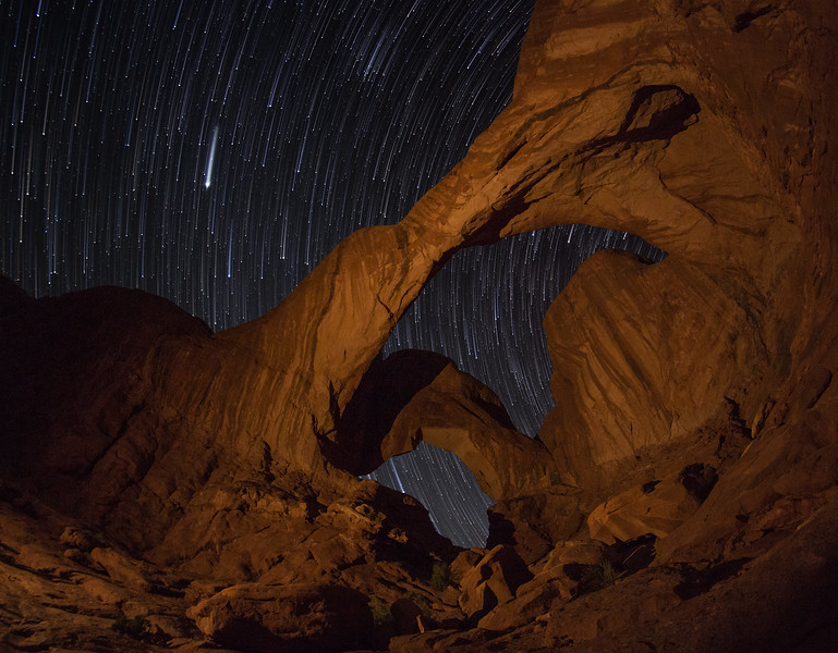 Stars and Jupiter Over Double Arch