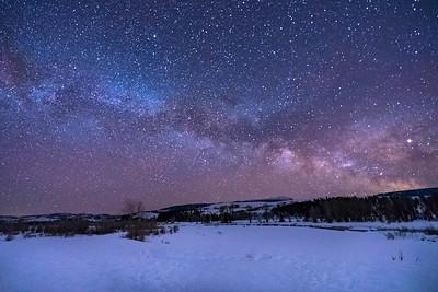 Milky Way Over Sleeping Indian
