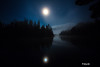The Moon setting at Conner's Flats on the Au Sable River