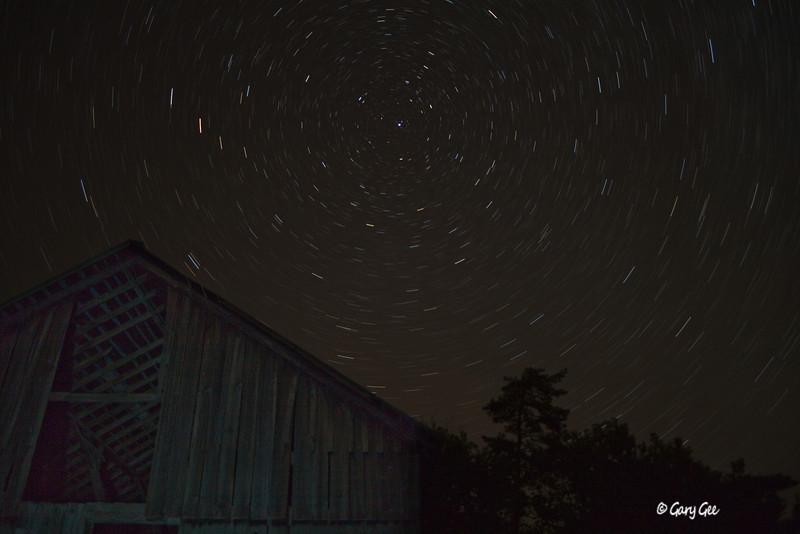 Star Trails Photography - Barn