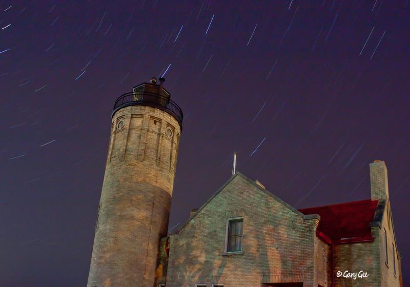 Mackinaw Lighthouse Star Trails