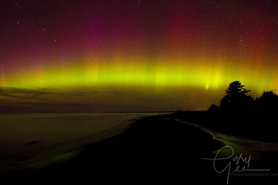 Northern Lights Wilderness State Park Michigan - Sturgeon Bay Oct. 2013
