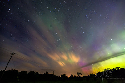 Spectacular display of the Aurora - Lewiston, MI - June 2015