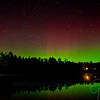 Aurora Borealis shows it's presence out the back door of my home in Lewiston, MI April 12th, 2012