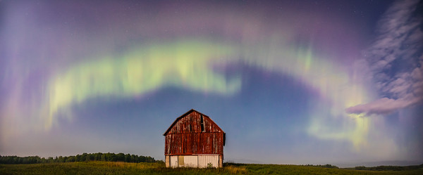 Northern Lights Lewiston Michigan - August 26, 2018