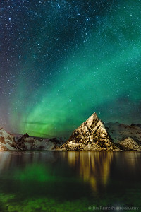 Aurora Borealis in Lofoten, Norway.