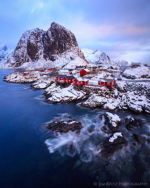 The fishing village of Hamnøy, in Norway's Lofoten archipelago.