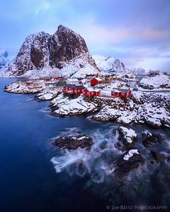 The fishing village of Hamnøy, in Norway's Lofoten archipelago.