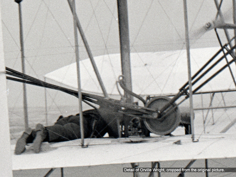 Detail of Orville Wright, cropped from the original picture.