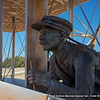 Wright Brothers Memorial National Park.  Orville Wright at the controls.