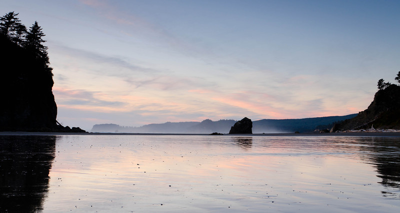 Fading Sunset at Ruby Beach<br /> Olympic National Park