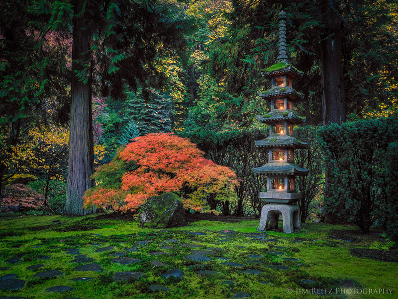 Pagoda Lantern - Portland Japanese Garden.