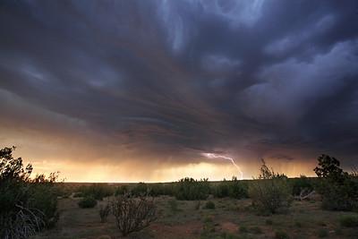Lightning Strikes Over Santa Rosa New Mexico