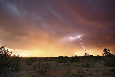 Lightning Strike at Sunset
