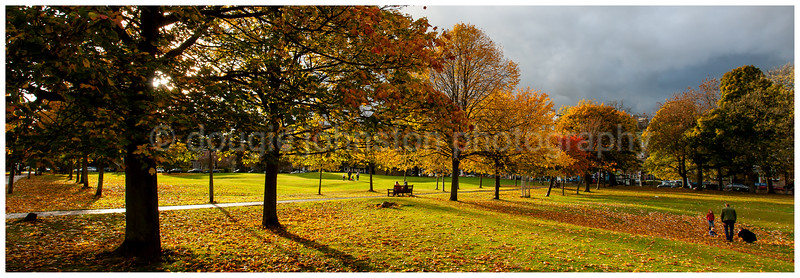 Bruntsfield Links, Edinburgh. In autumn.