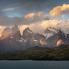 Los Cuernos del Paine at Sunset