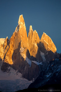 The jagged peaks of Cerro Torre