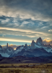 Sunset over Fitz Roy outside El Chalten, Patagonia, Argentina