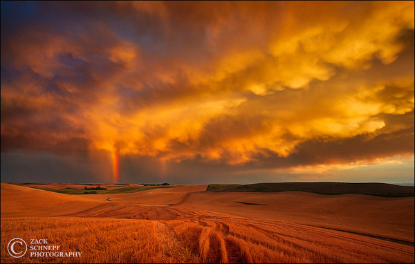 Rainbow Storm Sunset