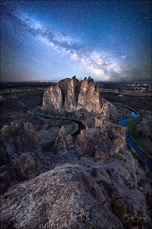 Milky Way Over Smith Rock