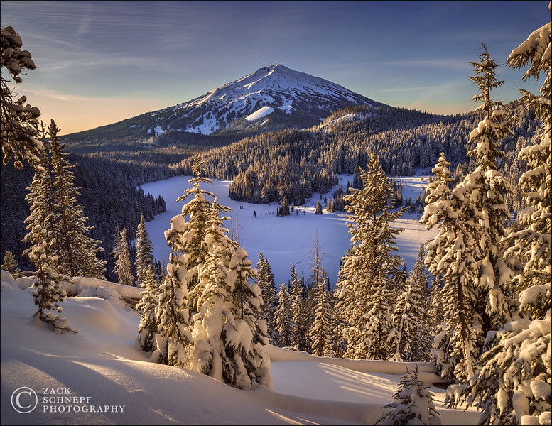 Mount Bachelor Golden Sunrise