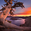 "<font color=""#FFFFFF"" size=""4"" face=""Verdana, Arial, Helvetica, sans-serif"">Crater Lake Sunset</font><br> Crater Lake, Oregon"