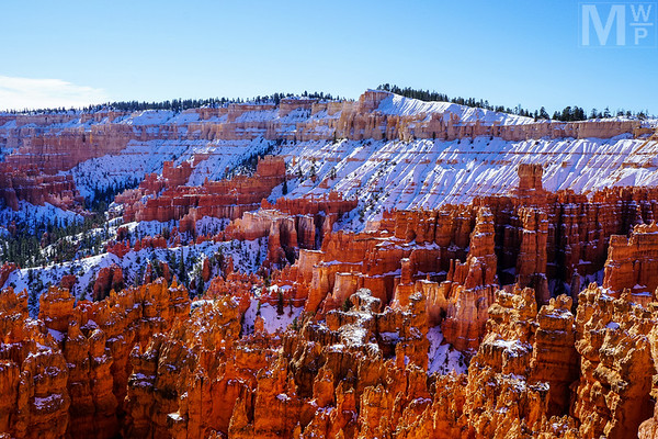 Hoodoos In Snow