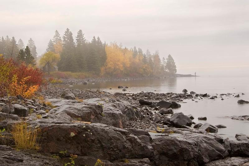 Fisherman at Stoney Point, Lake Superior